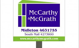 McCarthy  McGrath Site for sale sign